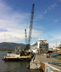Repair barge for Turnagain Marine Construction