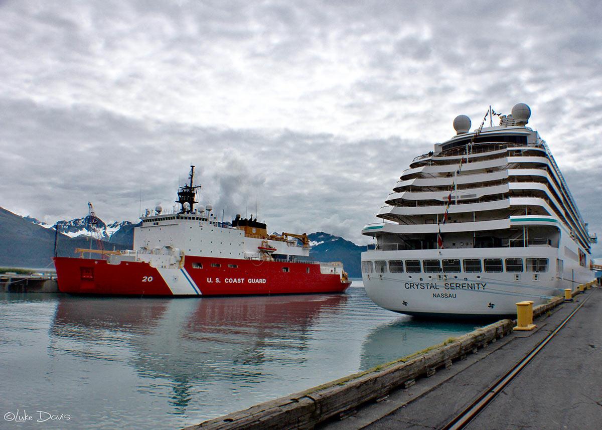 Crystal Serenity ship in Seward