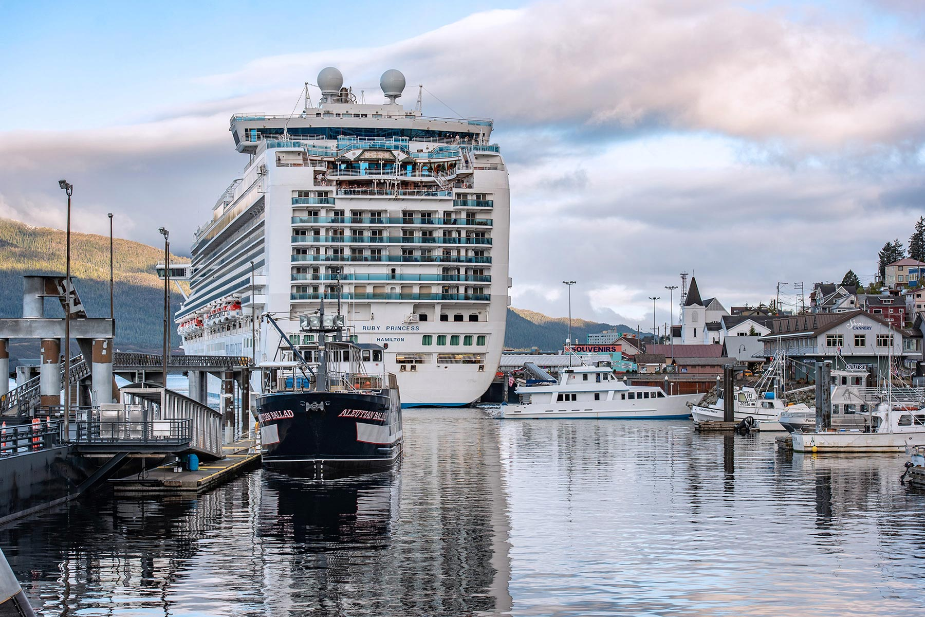 Ruby Princess in Ketchikan Alaska