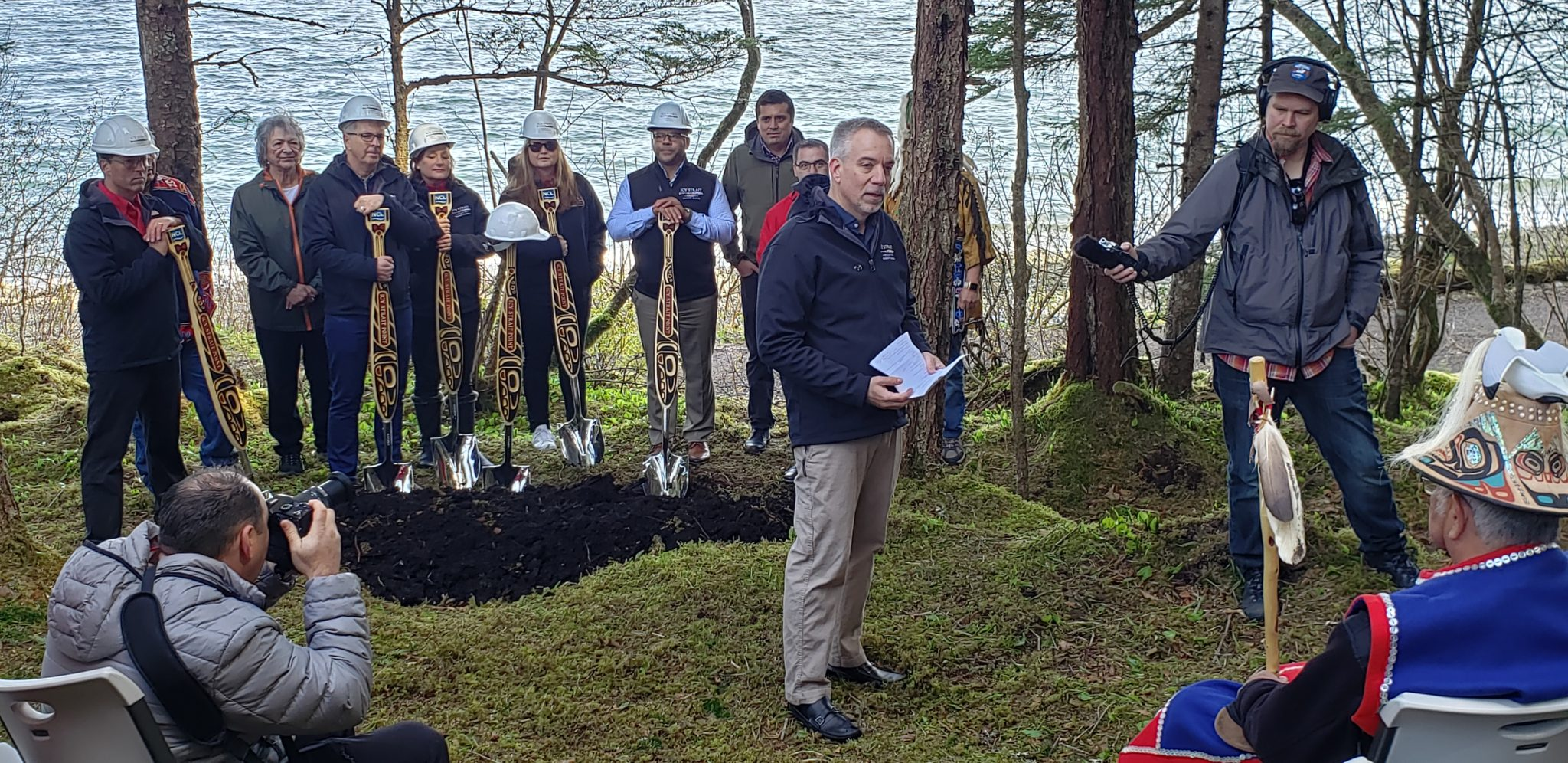 Norwegian, Huna Totem break ground on new pier at Icy Strait